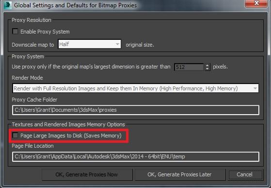 3ds Max Bitmap Paging High Memory Use Artasmedia
