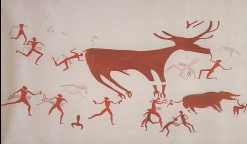 North Wall Deer Painting